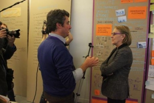 Stéphane Vincent, Délégué général de la 27è Région avec la ministre Marylise Lebranchu.