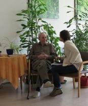 Rencontre entre Florence Massin et un patient
