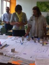 """""""Bon séjour"""", séance de travail collective entre les designers, les patients et l'équipe de soin"""