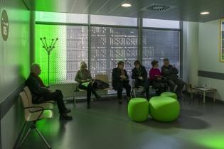 De la couleur, de l'ailleurs, de l'inattendu, NHC. CHU de Strasbourg / V8 designers et Frédérique Ehrmann.