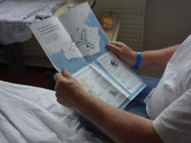 """Carte des parcours de marche et localisation de l'""""Etape"""". Crédit photo : La fabrique de l'hospitalité."""