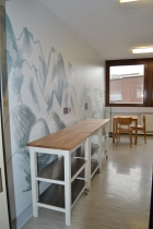 L'Etape, un espace convivial où faire une pause et prendre une collation. Crédit photo : La Fabrique de l'hospitalité.