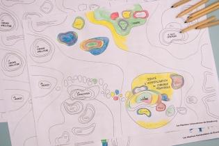 Un document en noir et blanc pour être colorié par les enfants ou leur(s) accompagnant(s)